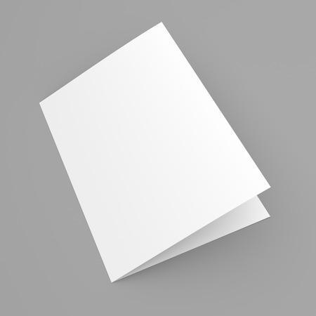 Blank Folded Flyer Booklet Business Card Or Brochure Mockup - Brochure mockup template
