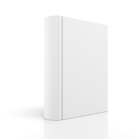 hard cover: Blank book cover isolated on white background