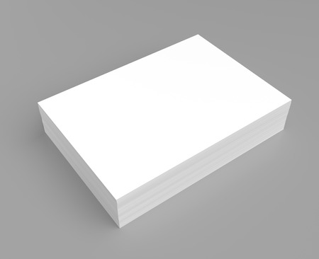 printed: Heap of white paper on grey background