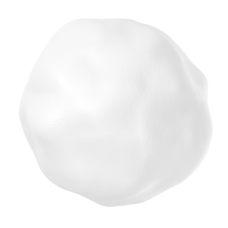 Snowball or hailstone isolated on white background Banque d'images