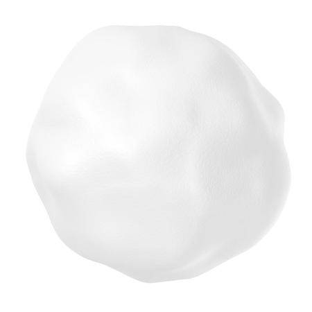 boule de neige: Snowball ou grêlon isolé sur fond blanc Banque d'images