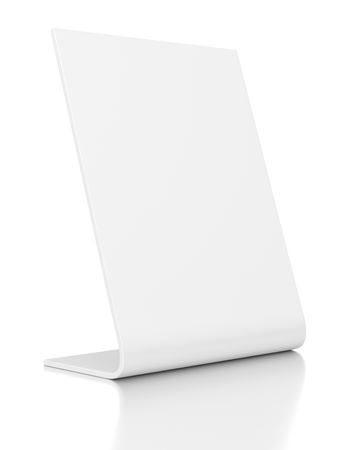 poi: Outdoor advertising POS POI stand banner or desktop nameplate isolated on white background.