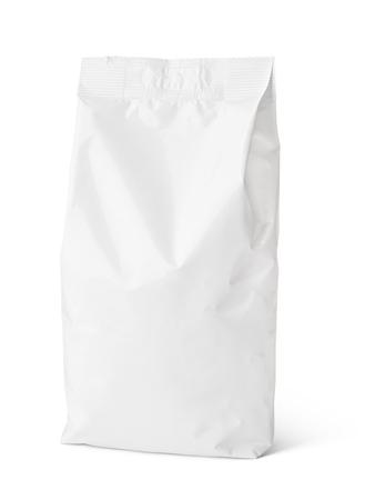 Blank Snack Papiertüte Paket isoliert auf weiß Standard-Bild - 64879301