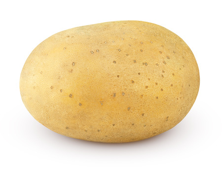 jhy: Closeup of single potato isolated on white background Stock Photo