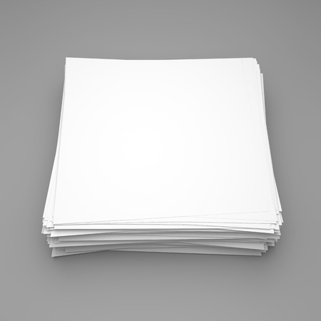 note paper background: Stack of stick note (white paper) on gray background Stock Photo