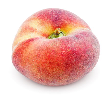 Chinese flat donut peach isolated on white with clipping path