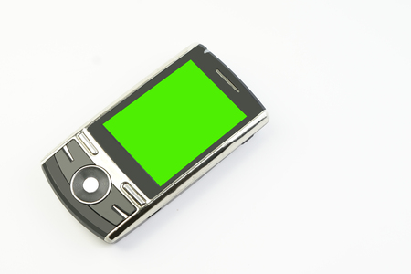 green screen: mobile phone with green screen