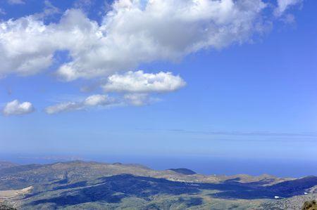 White clouds over Crete. Stock Photo - 8138147