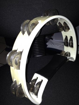 tambourine: Solo Tambourine Stock Photo