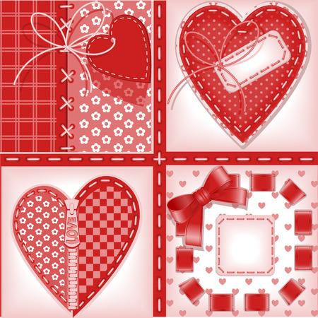 lavoro manuale: set completo di carte. Giorno di San Valentino. cuore 2. Simile in un portafoglio