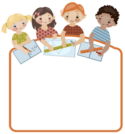 School childhood. Place for your text. classes. Similar in a portfolio Vector