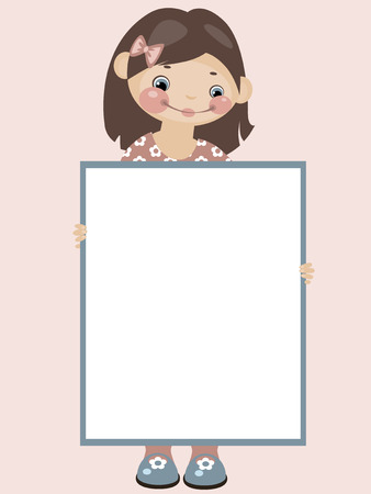 School childhood. Place for your text. Girl. Similar in a portfolio Vector