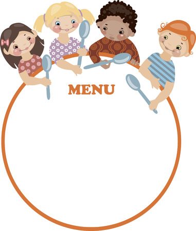 School childhood. Place for your text. menu. Similar in a portfolio Vector