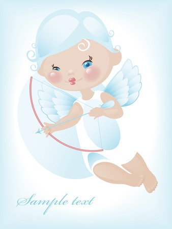 Angel with hearts. valentine 4. Similar in a portfolio Vector