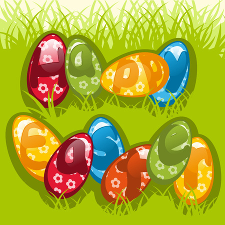 colorful Easter eggs. Colorful illustration Vector