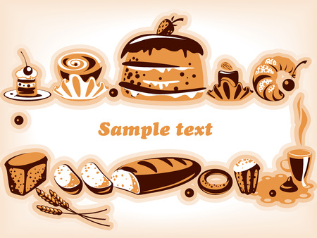 confectionery. Collection. isolated objects Stock Vector - 9103636