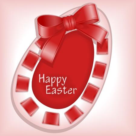 burgundy ribbon: Buona Pasqua 4. cucitura a macchina.