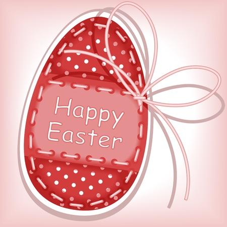 burgundy ribbon: Buona Pasqua. cucitura a macchina.
