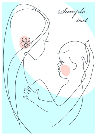 Mother and Child boy Stock Vector - 9279202