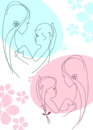 Mother and Child. collection 2. similar to the portfolio Stock Vector - 9279207