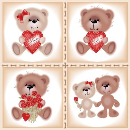 Collection Teddy Bear. Similar in a portfolio Vector