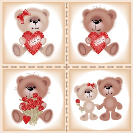 two animals: Collection Teddy Bear. Similar in a portfolio