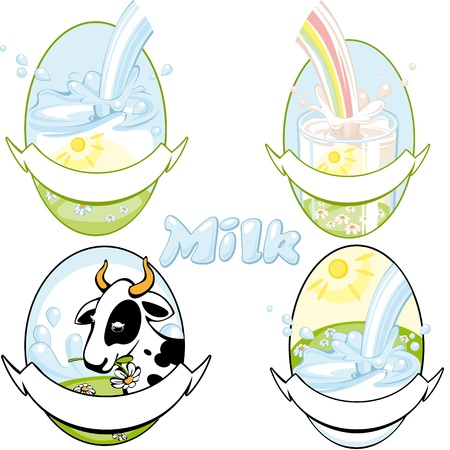 milk vektor 2. Similar in a portfolio Stock Vector - 9305040