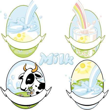 dairy product: milk vektor 2. Similar in a portfolio