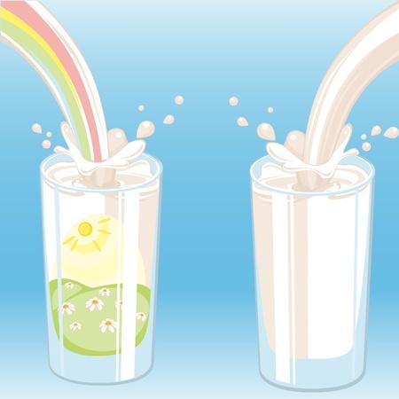 grocer: milk vektor. Similar in a portfolio Illustration