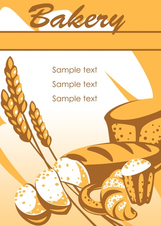 bakery products. place for your text. similar to the portfolio Stock Vector - 9367859