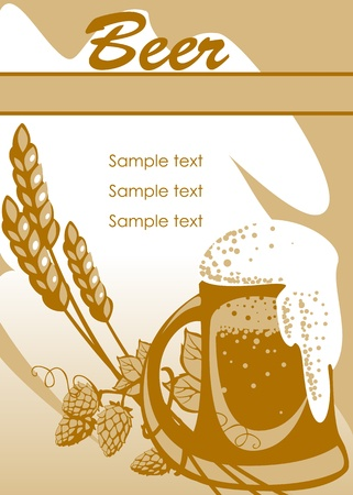 beer. place for your text. similar to the portfolio Vector
