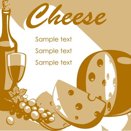 Cheese. place for your tex. similar to the portfolio Vector