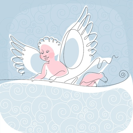 Angel. thread 3. Place for your tex. similar to the portfolio Vector