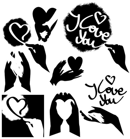 symbol of love, vector graphics Stock Vector - 9377906