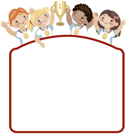 School childhood. Place for your text. Sports. similar to the portfolio Vector