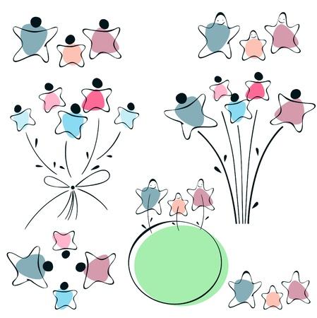 joie: Kinder-Blume, Zeichen Familie. festgelegt.