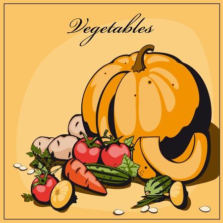 plaited: verduras de bodeg�n Vectores
