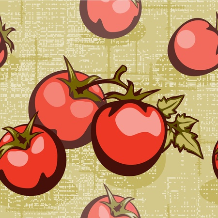 old kitchen: tomato on a braided background in bed tones Illustration