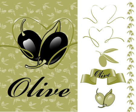 collection for the label. olives. similar to the portfolio Vector