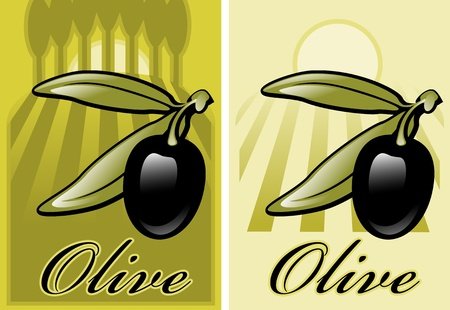 label. olives. similar to the portfolio Vector