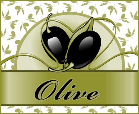 labels for olive 2. similar to the portfolio Vector