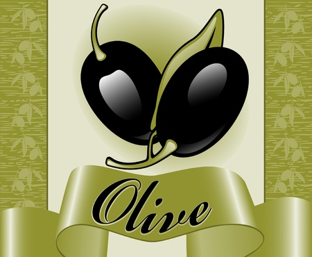 labels for olive 3. similar to the portfolio Vector