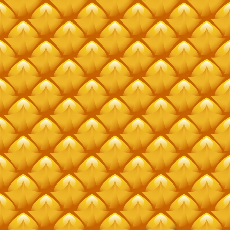 natural surface texture of the pineapple made ??in the form of a yellow background Vector