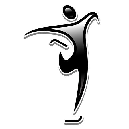 フィギュア スケート。スポーツ アイコン冬オリンピック訓練。