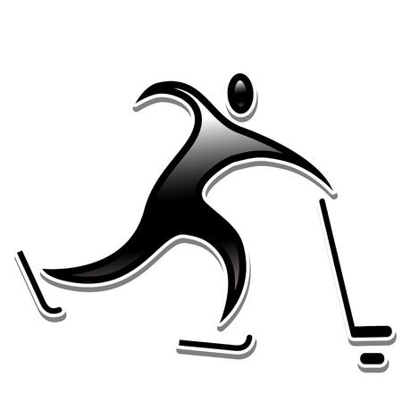 sports icon: hockey sobre hielo. deportes ol�mpicos de invierno icono disciplinas.