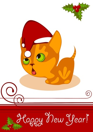 little Kitten in a Hat 4 Vector