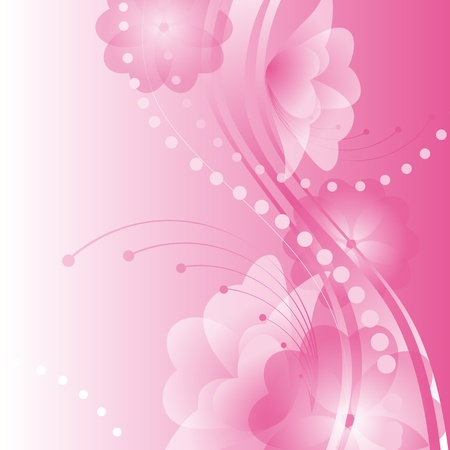 abstract flower background.flowers with petals in the shape of hearts on a pink background. Valentine Vector illustration. Vector