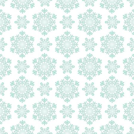 白い背景の上の冬の雪片のパターンです。ベクトルの壁紙。  イラスト・ベクター素材