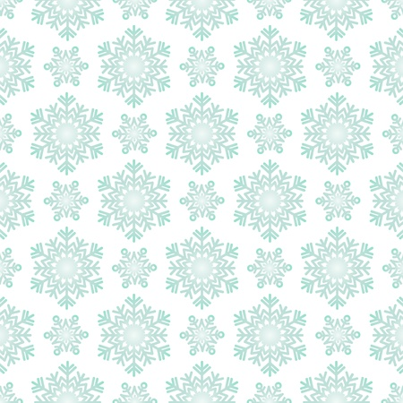 winter snowflake pattern on white background. Vector wallpaper.