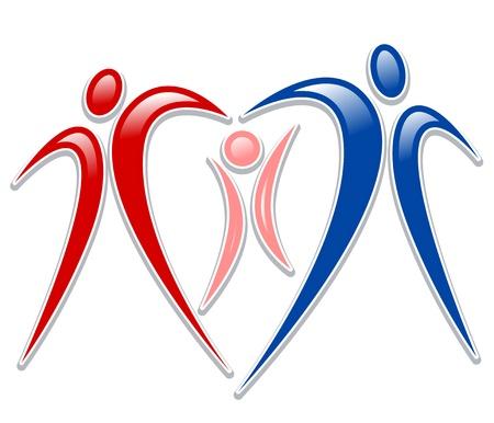 white clip: icon person - symbol family holding hands